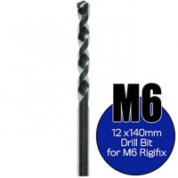 Rigifix M6 Drywall Fixings – 12mm Rigidrill Drill Bit